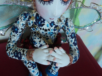 Кукла Цветочная спящая фея Лия.