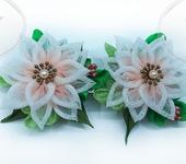 Мастер-класс - DIY /МК Зажимы (заколки) с цветами из градиентной органзы