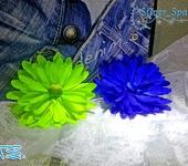 Мастер-класс - МК цветка из атласной ленты.