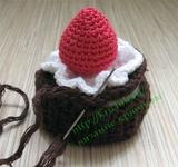 Вязаное пирожное