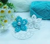 Мастер-класс - Цветы из пряжи БЕЗ спиц и крючка ( шьем иголкой )