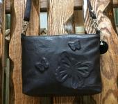 Мастер-класс - Кожаная сумочка с дизайном из бабочек