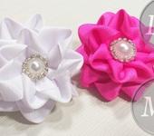 Мастер-класс - Складной цветок Канзаши