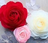 Мастер-класс - Создаем фотозону из больших роз. Часть 1.