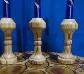 Мастер-класс - Деревянные подсвечники