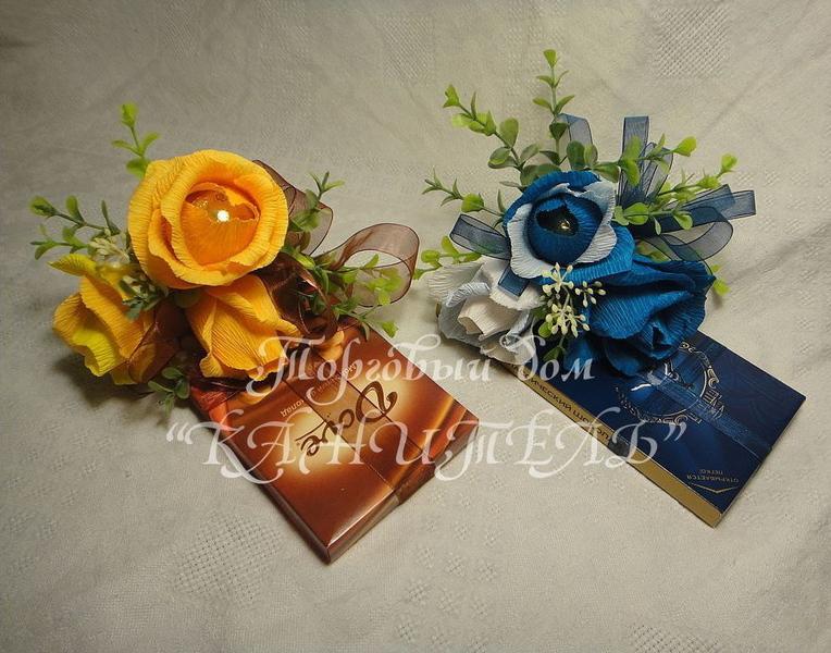 Подарочные цветы из конфет
