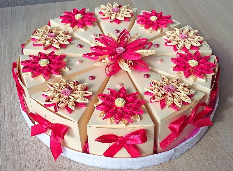 Торт из бумаги своими руками со свечками 45