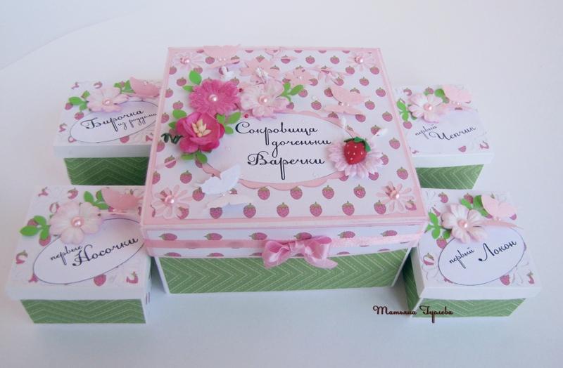 Как сделать коробку для новорожденного
