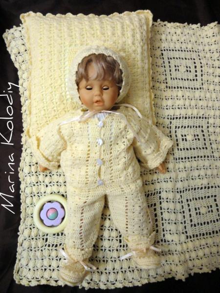 Модное вязание для новорожденных спицами 19