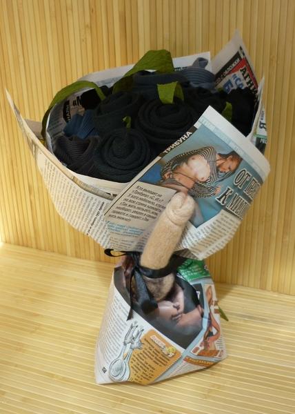 Прикольные подарки из носков