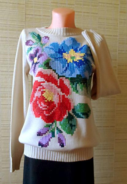 Вышивка крестиком на одежде своими руками