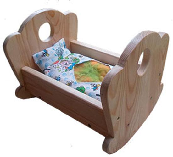 Кукольная кроватка качалка