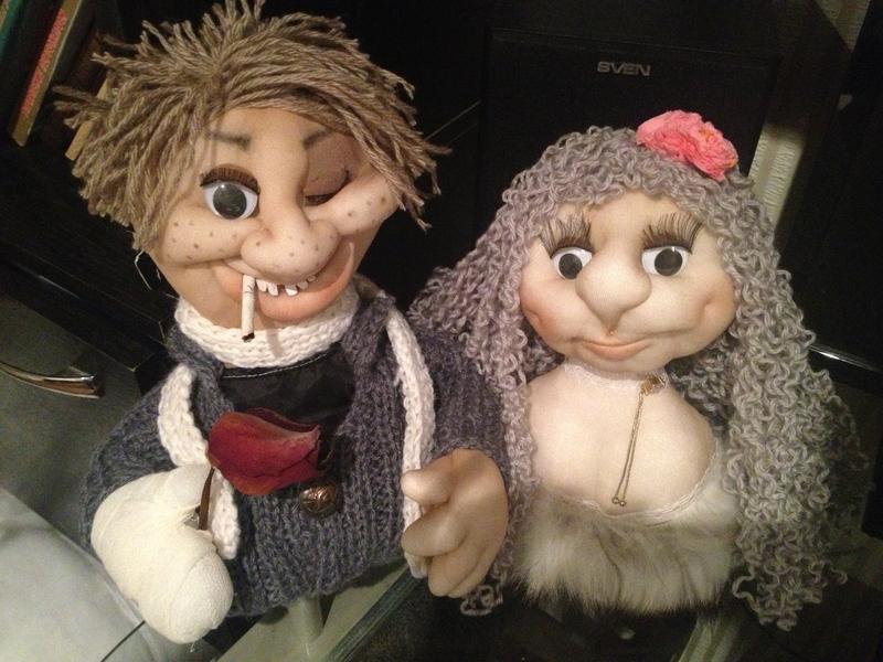 Чулочные куклы авторской работы в технике скульптурный текстиль. . Вызывае