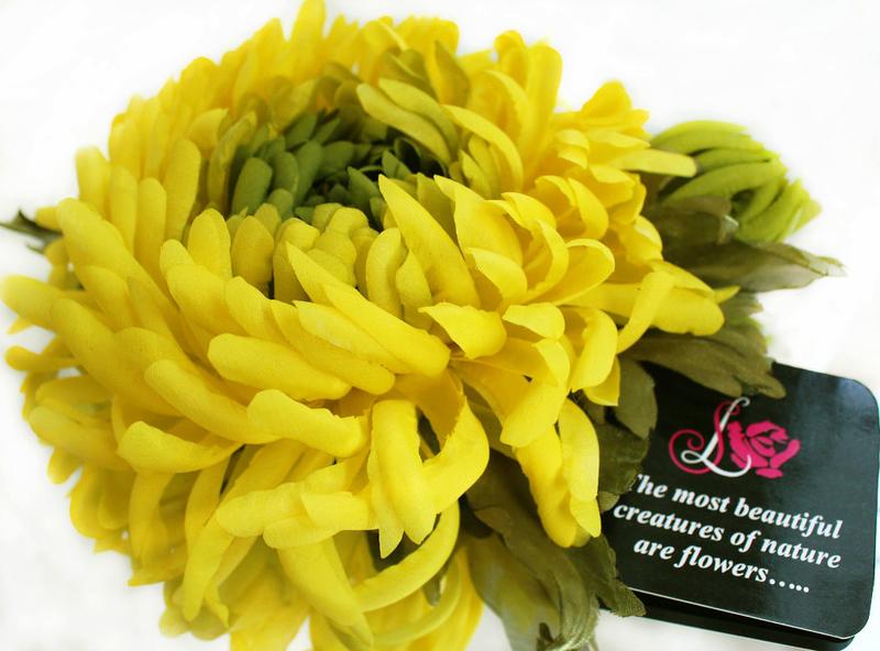 Хризантема из ткани мастер класс