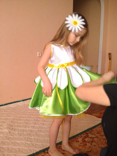 Сшить костюм ромашки для девочки