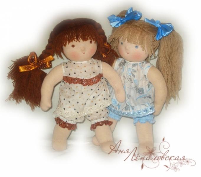 Вальдорфские куклы - Кира и Даша - малышки-голышки - Автор: Аня Лепаловская