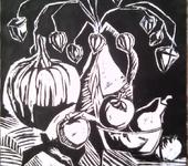 Гравюра - Осенняя композиция