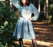 Блузки - Мятный..комплект юбка-блузка