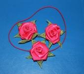 Украшения для волос - Комплект резинок на голову девочке Розы