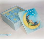 """Развивающие игрушки - Кубики детские декупаж """"Лунная фантазия"""""""