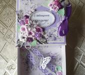 Открытки - открытка коробочка для денежного подарка
