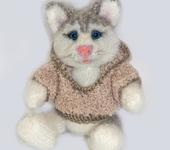 Зверята - Котенок вязаная игрушка, котик вязаный