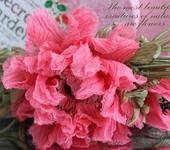 Броши - Мак шелковый «Сладкий сон». Цветы из ткани