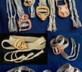 Ремни, пряжки, пояса -  Плетеные ремни с зооморфными резными пряжками.