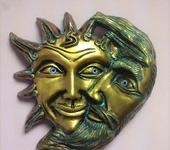 Интерьерные маски - Солнце и месяц