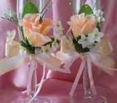 Свадебные аксессуары - Бокалы для молодоженов