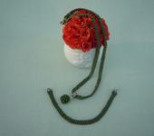 Комплекты украшений - Комплект (жгутик с бусиной и браслет)