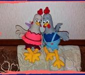 Вязаные куклы - Петушок и Курочка