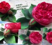 "Флористика - Видео мастер класс ""Пионовидная роза из фоамирана"""