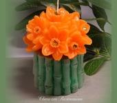 Свечи ручной работы - Свеча «Цветочная композиция»