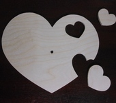 Декупаж - Заготовка для часов - сердечки