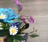 Цветы - Букет летних цветов ручной работы из полимерной глины