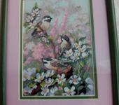 Вышитые картины - Вышитая картина  Весенние цикады