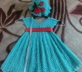 Одежда для девочек - платье и панамка