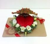 Флористика - Сердечко из хризантем