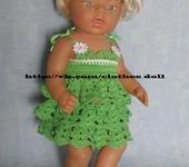 Одежда для кукол - Одежда для куклы Baby Born (Беби Бон ).  Сарафан № 2