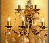 Светильники, люстры - Бронзовая настенная бра AVRORA art. 05-1 ручной работы