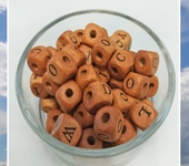 Бусины - Кубики буквы