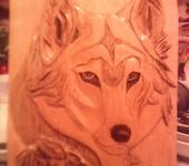 Скульптура - волк