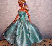 Одежда для кукол - Кукольная одежда 1/6 - Платье бальное бирюзовое (размера Барби)