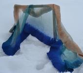 Шарфы - шарф женский из крепдешина валяный
