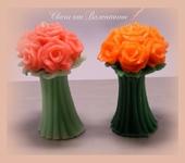 Свечи ручной работы - Свеча «Букет Роз»