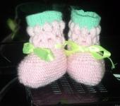 Для новорожденных - Пинетки для девочки