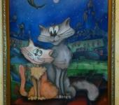 Живопись - Влюбленные котики