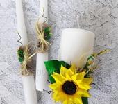 Свадебные аксессуары - Свадебные свечи Подсолнух