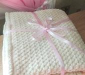 Для новорожденных - Плюшевый плед с хб подкладкой